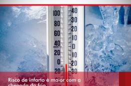 Risco de infarto é maior com a chegada do frio